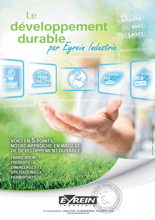 Le développement durable par Eyrein Industrie